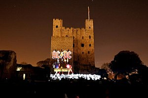 Rochester Castle is Illuminated Using 3D Animation