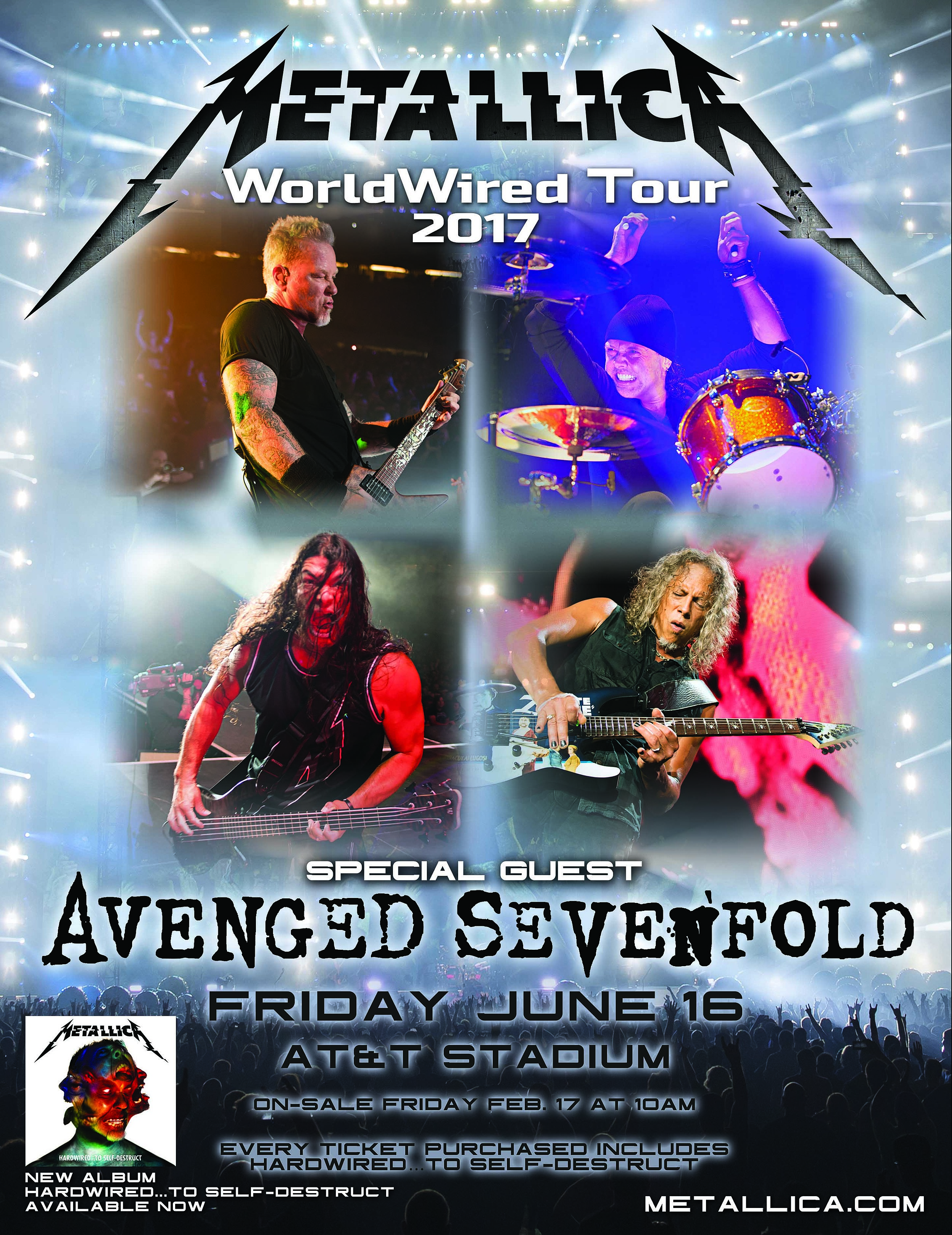 Metallica WorldWired Tour Poster